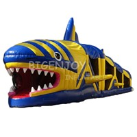 Outdoor Animal Inflatable Shark Challenge Game Obstacle Course for Kids