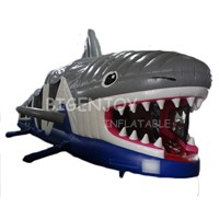 Design Inflatable Shark Obstacle Course for Sale