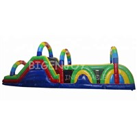 Finest Quality Rainbow Inflatable Obstacle Course for Kids
