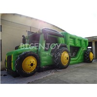 Green Truck Shape Adult Inflatable Obstacle Course