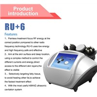 Body Slimming Face Wrinkle Removal RF Ultrasonic Machine RU+6