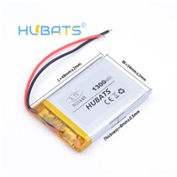 Hubats 3.7V 1300mAH 803448 Polymer Lithium Ion Li-Ion Battery for Model Aircraft GPS MP3 MP4 Cell Phone Speak