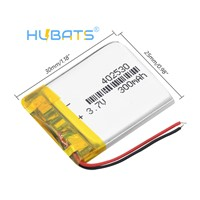 Hubats 3.7V 300mAh 402530 Lithium Polymer Li Ion Rechargeable Battery for Car GPS Vehicle Traveling Data Recorder MP3 MP