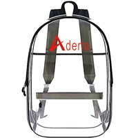 Clear Transparent PVC Backpack Waterproof Portable Backpack with Cosmetic Bag Travel