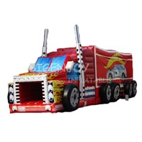 2019 Factory Price Best Quality Inflatable Fire Truck Obstacle Course for Kids & Adults