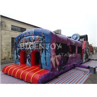 Giant Interactive Challenge Inflatable Obstacle Course Type Adult Bounce House from Guangzhou Inflatable Factory