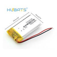 Hubats Rechargeable Polymer Battery 500 Mah 3.7 V 702035 Smart Home MP3 Speakers Li-Ion Battery for DVR, GPS, MP3, MP4, Powe