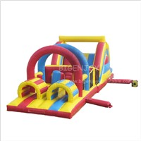 Commercial PVC Hire Grade Inflatable Amusent Park Obstacle Course Bouncers for Kids