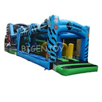 Commercial Football League Theme Inflatable Obstacle Course