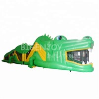 Outdoor Green Lizard Inflatable Obstacle Challenge for Sale