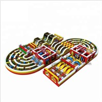 Outdoor Playground Games Equipment Inflatable 5k Obstacle Course