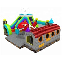 Rocket Inflatable Combo Bounce House with Slide for Kids Obstacle Course Jumpers for Rent