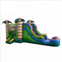 0.55mm PVC Outdoor Sports Game Large Adult Jungle Inflatable Bouncy Slide Inflatable Water Slide