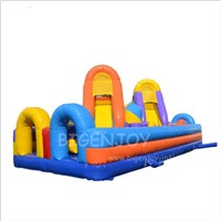 Amusement Park Use Commercial Backyard Kids Ultimate Race Challenge Games Cheap Inflatable Obstacle Course Equipment