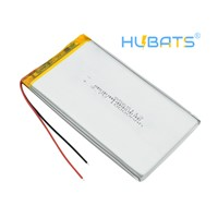 Hubats Rechargeable Lipo Battery Cell 3.7 V 8565113 10000mah Tablet Lithium Polymer Battery for Tablet DVD GPS Electric
