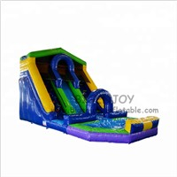 Factory Price Amusement Equipment Water Game Toys Children Inflatable Water Slide with Pool