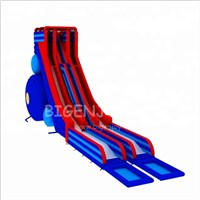 Inflatable Playground Games Double Lane Slide 28m Long PVC Tarpaulin Giant Inflatable Slides for Adults