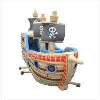 Large Outdoor Kids Amusement Park Giant Inflatable Pirate Ship Slide Bounce Playground Inflatable Titanic Slide