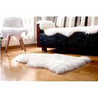Sheepskin Carpet Rug Single Pelt Rug Lambskin Blanket for Bedroom
