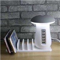 Tenee T-PC006 Multi-Port USB Charger with Mushroom Light