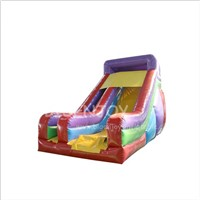 Cheap Commercial Rainbow Inflatable Kids Water Slide