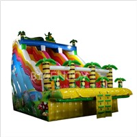 Colourful Inflatable Jungel Water Park Slides for Pool