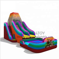Volcano Inflatable Slide Games Jumping Bouncer for Playground Children & Adults Commercial PVC Inflatable Giant Slide