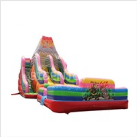 Large Outdoor Playground Used Commercial Adult Children Giant Volcano Inflatable Water Pool Slide