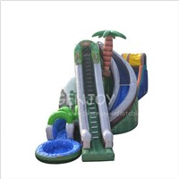 Marble Inflatable Bouncy Castle City Slide Factory Price Inflatable Water Slide