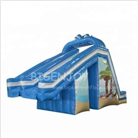 Portable Land Air Aqua Park Water Slides Kids & Adult Commercial Toboggan Inflatable Water Slide for Swimming Pool