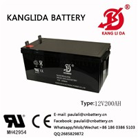 12v200ah Sealed Lead Acid Battery Kanglida with 19 Manufacturer Experience