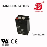 Kanglida 4v2ah Emergency Light Sealed Lead Acid Battery