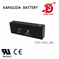 12volt 2.3ah Valve Regulated Lead Acid Battery for Alarm