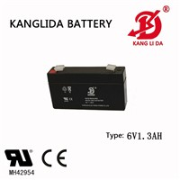 6v1.3ah Kanglida Free Maintenance Lead Acid Battery for Alarm