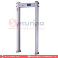 Securina Security Walk through Metal Detector 33 Zones Gate Archway Portable for Outdoor(SA300C-Plus)
