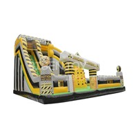 Nuclear Zone Playground Toxic Inflatable Obstacle Course Free Stunt Jump Amusement Park