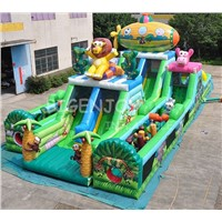 Safari Combination Inflatable Big Bouncer for Kids