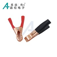 50-Amp Copper Alligator Clips Terminal Test Electrical Battery Crocodile Clamp for Jumper Cables Boost