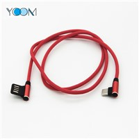 90 Degree Double Side USB Charging Cable for Type C