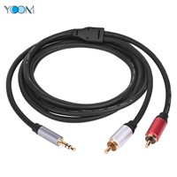 2 RCA to 1 Video Cable Audio Cable Male to Male 1.8m 6FT