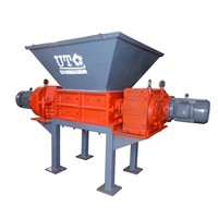 Double Shaft Shredder Crusher for Tyre, Metal, Fiber, Wood, Medical Waste Recycling