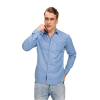 Mandarin Collar Men's Linen Cotton Casual Shirt