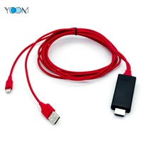 Lightning Charging Ios/Type-C/Micro+USB to HDMI Cable