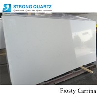 Misty Carrara White Building Material Polished Surface Granite / Marble Series Quartz Stone Slabs for Kitchen / Bathroom