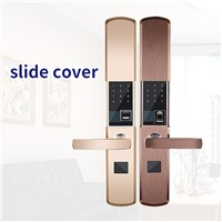 RX0802 Fingerprint Password Electronic Smart Lock Magnetic Card k Automatic Sliding Cover Anti-Theft Door Lock