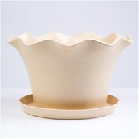 Wholesale Modern Bamboo Fiber Planter Flower Pot