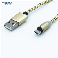 Magnetic Nylon Braid Charging+Data USB Cable for Type-C/Micro/IOS