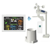 Wi-Fi Professional Weather Station with Wind/Rain Sensor Color Screen