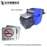 UV Flatbed Printer for No Smoking Metal Signs Printing