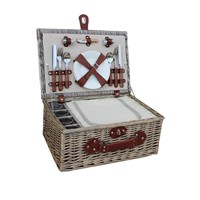 Willow Picnic Basket with Full Accessories